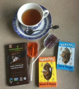 chocolate and crickets